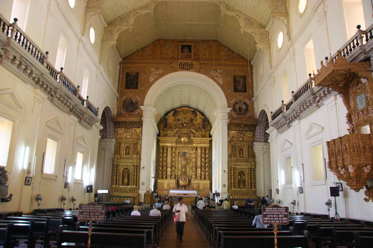 Inside the Basilica de Bom Jesus