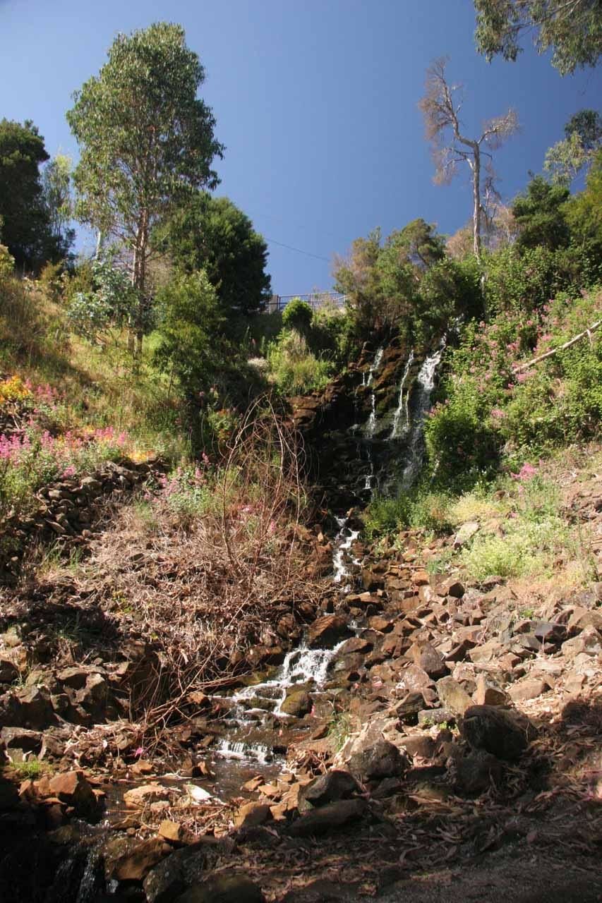 Oldaker Falls struggling to flow but it was flowing