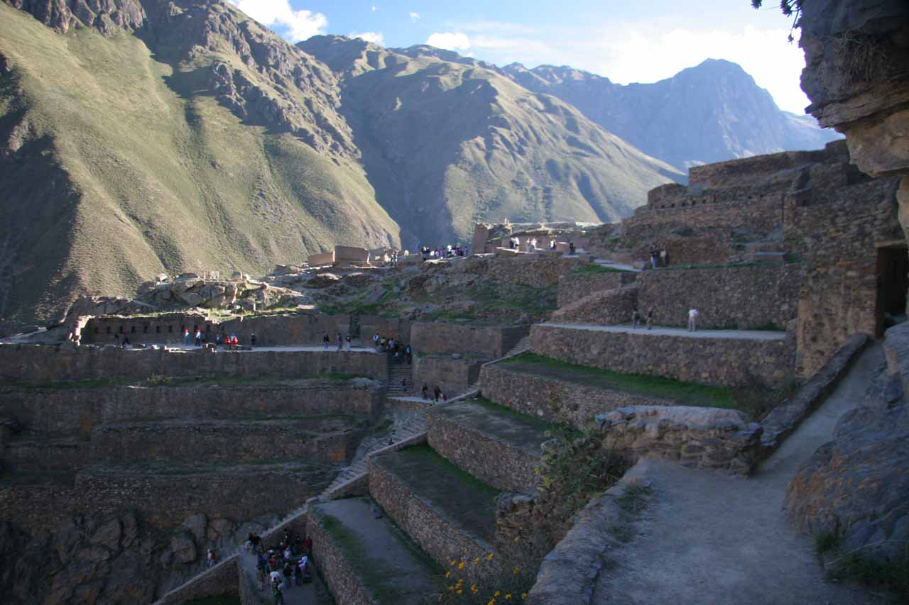 The steep ruins of Ollantaytambo in the Sacred Valley; the town was where we caught a train ride to Aguas Calientes at the foot of Machu Picchu