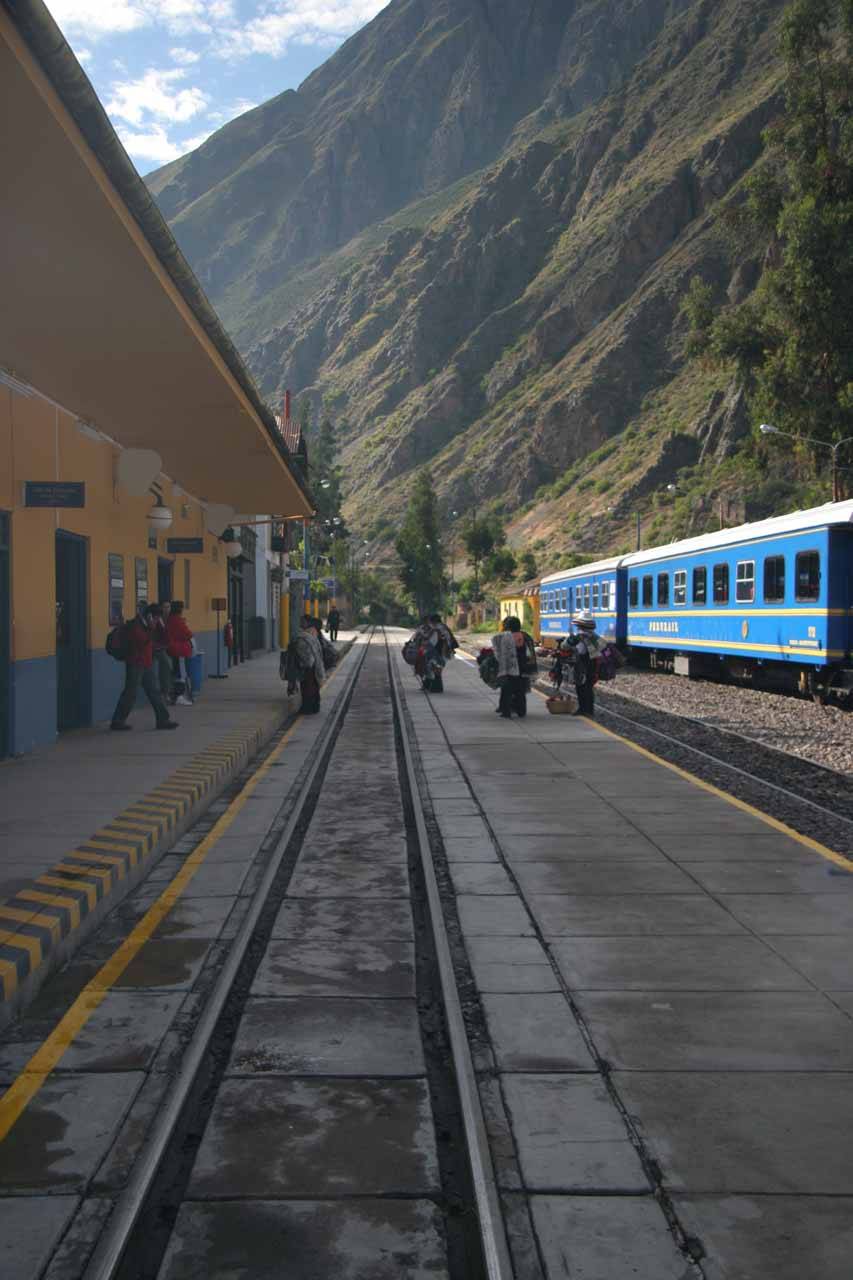 The train station at Ollantaytambo, where we continued onto Aguas Calientes and Machu Picchu