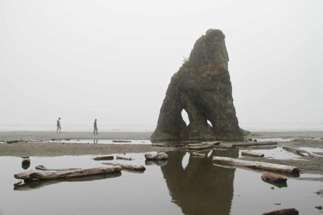 Olympic_Peninsula_123_08212011 - Since Beaver Falls was the furthest waterfall to the west on the Olympic Peninsula that we visited, I figured this page would be as good as any to showcase this photo of Ruby Beach (a few miles south of Forks) and the enigmatic rock formations there