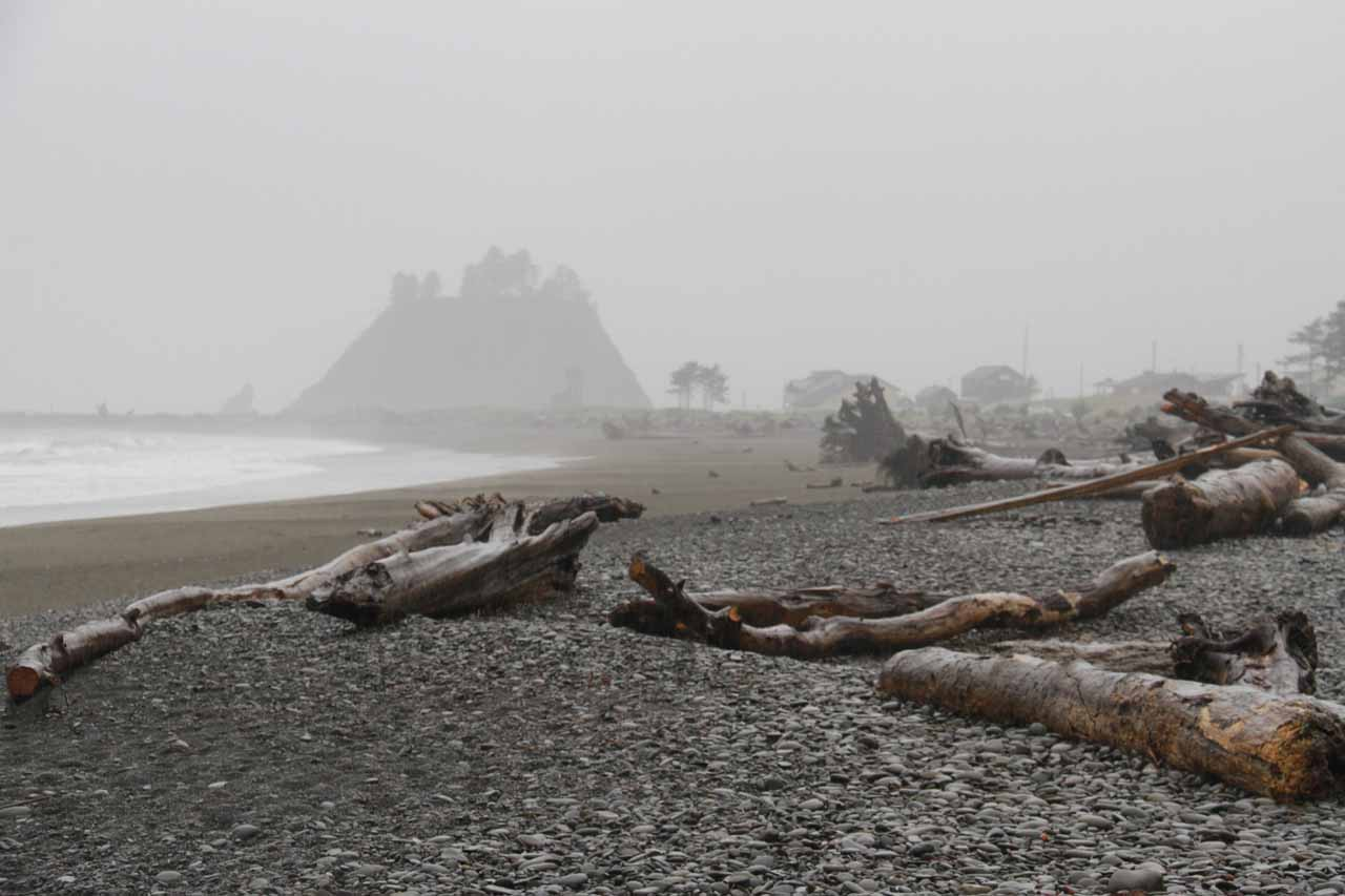 The Olympic Peninsula featured some wild and scenic coastlines, including this spot at the Native American Reservation at La Push despite the turbulent weather