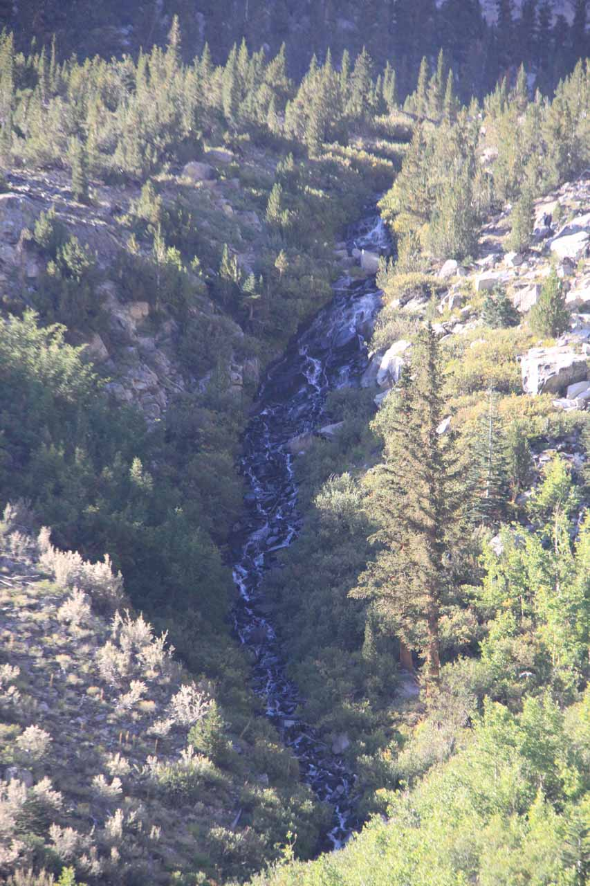 Another closeup view of the Onion Valley Waterfall from a different angle