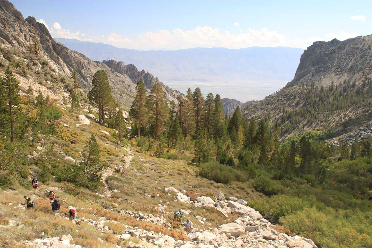 Looking back through the mouth of Onion Valley towards the Owens Valley in the direction of Independence