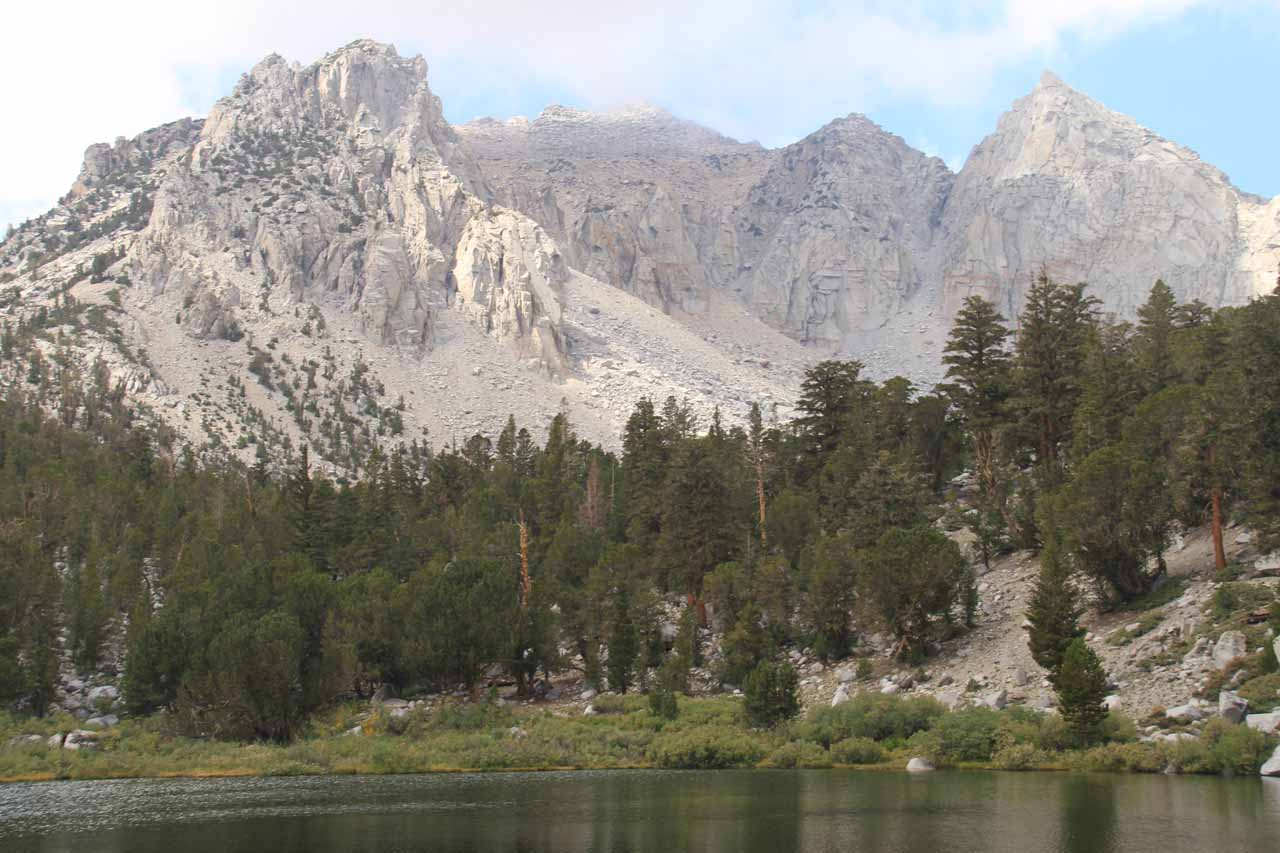 Gilbert Lake backed by some attractive peaks