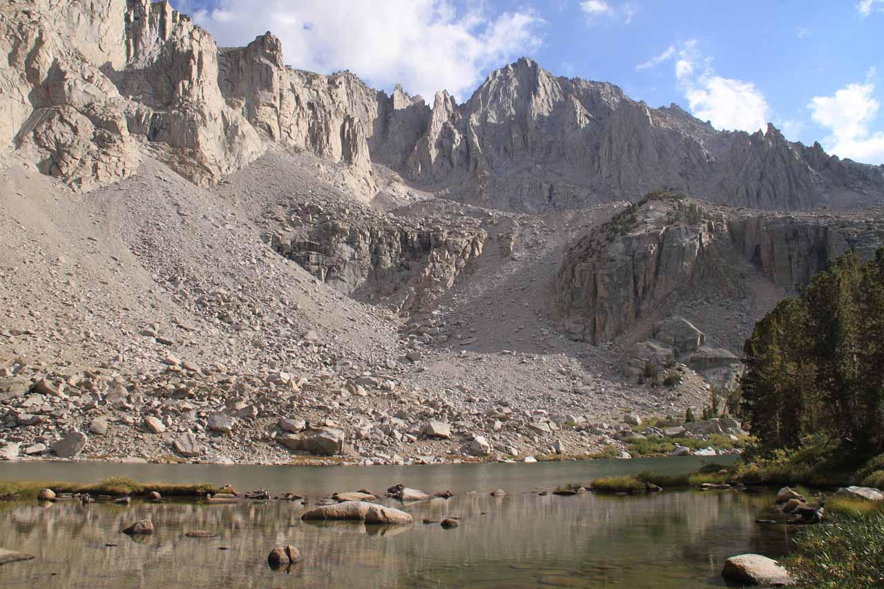 The bottom of Slim Lake