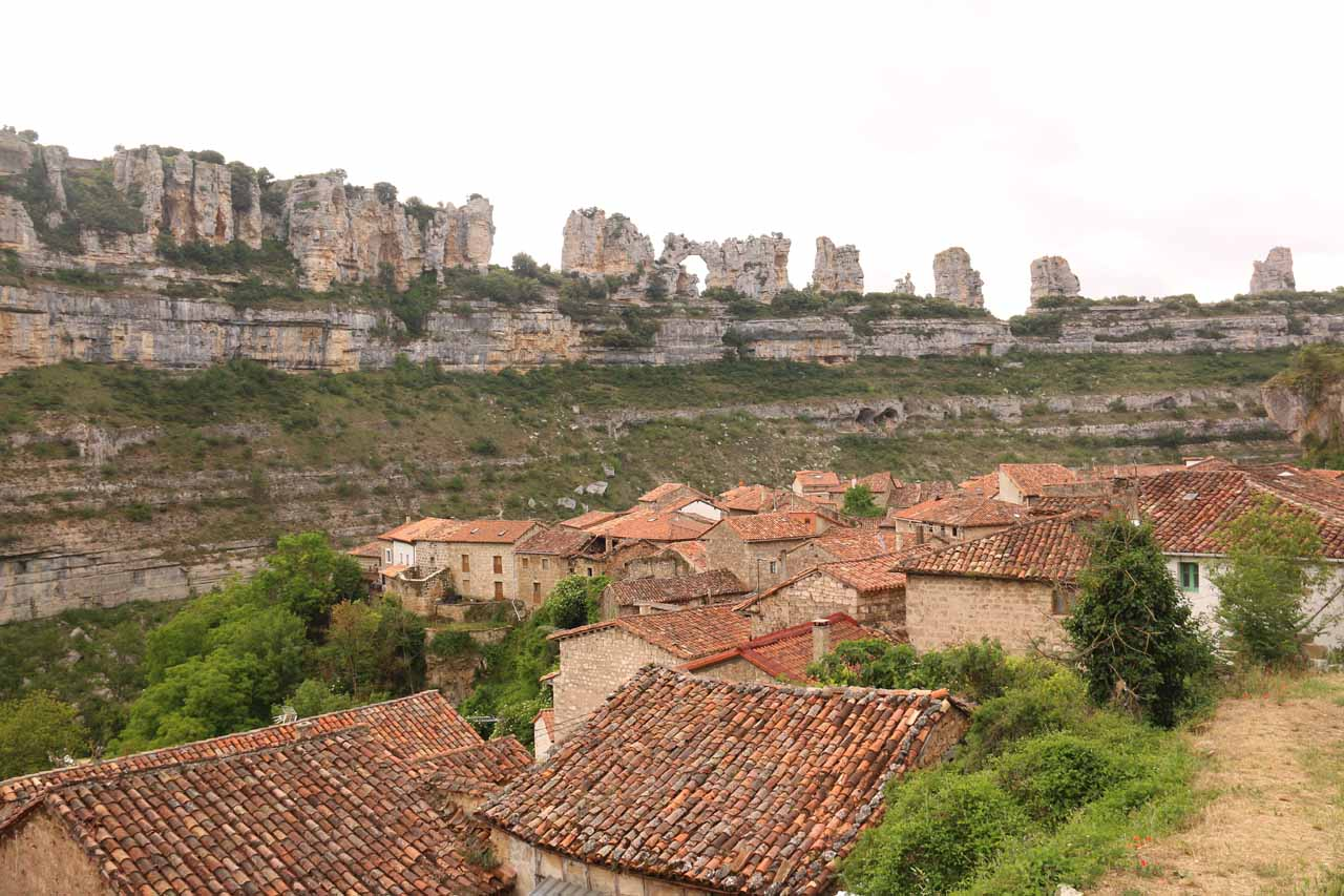 Our last contextual look towards Orbaneja del Castillo and the cliff formations across the gorge from it