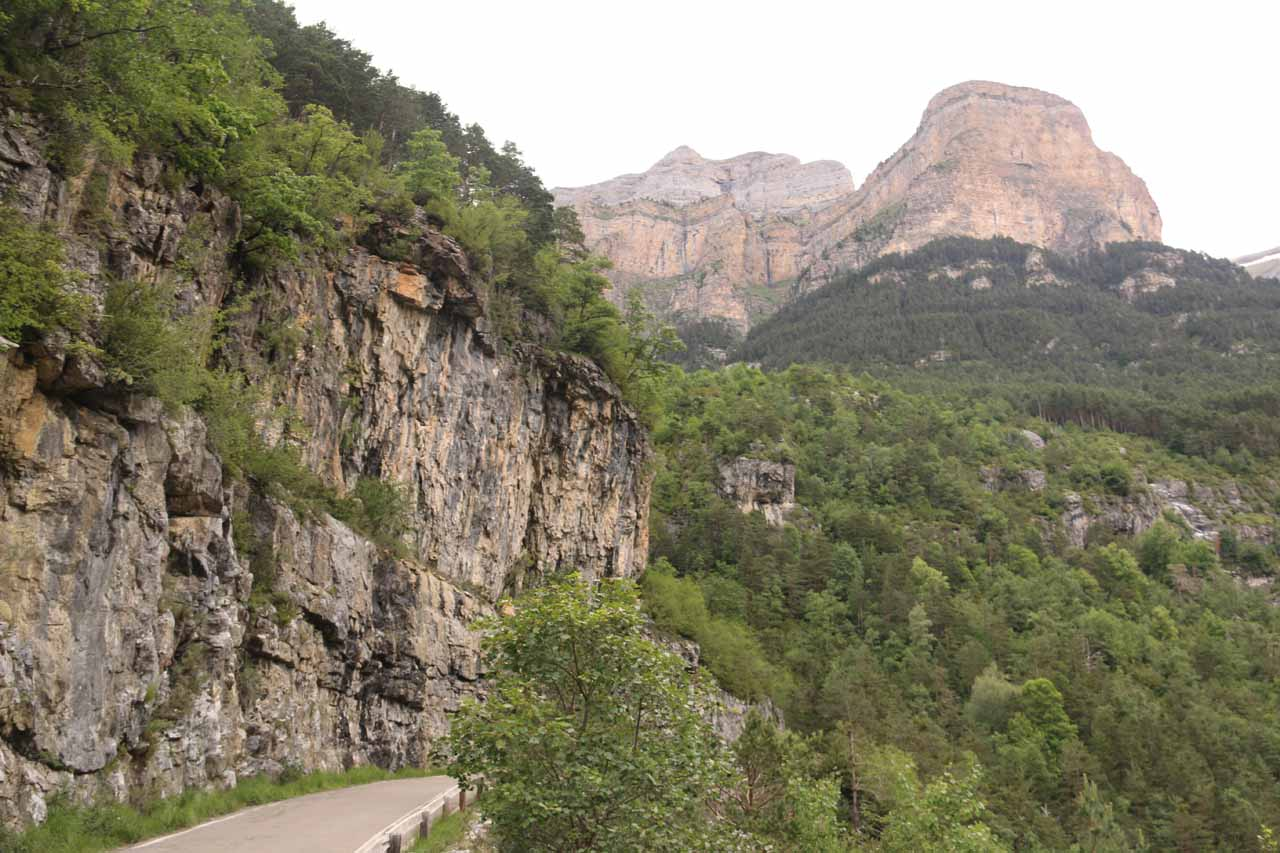 Some main roads are actually clinging to sides of mountains or cliffs (and are therefore necessarily narrow and bi-directional). This is the rule rather than the exception in much of Europe