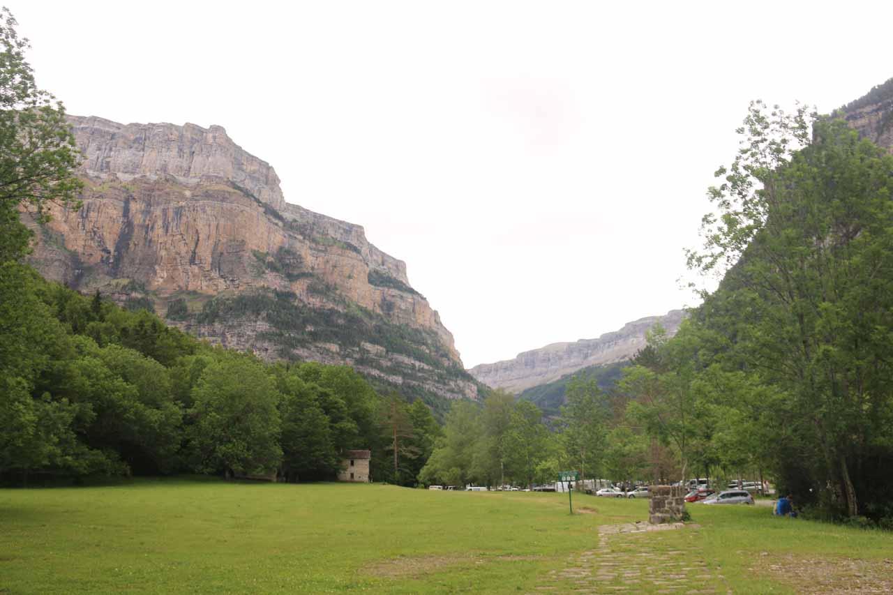 Looking back at Pradera de Ordesa as I embarked on my hike to Cascada de Cotatuero