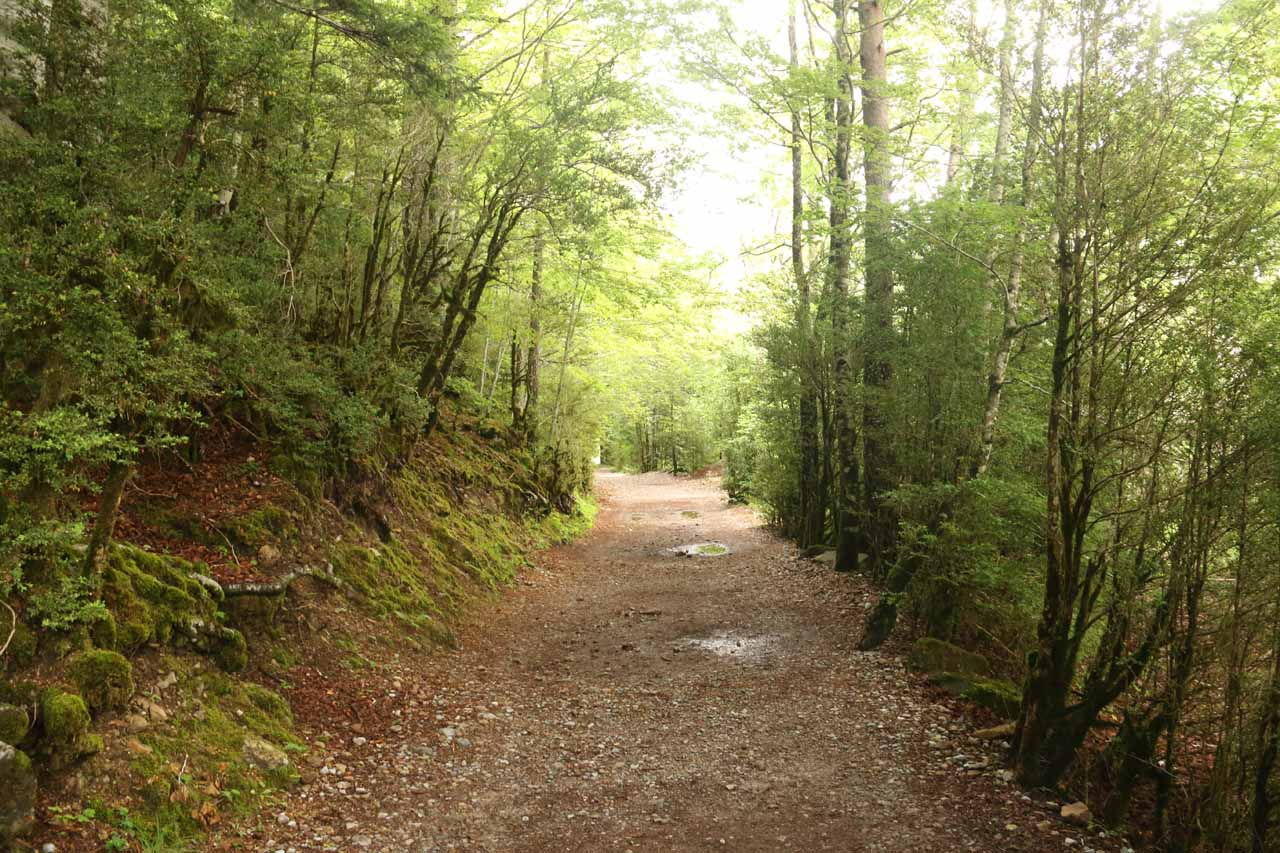 At first, the trail to Cascada de Cotatuero was shared with the much longer trail to the Circo de Soaso and the Cola de Caballo
