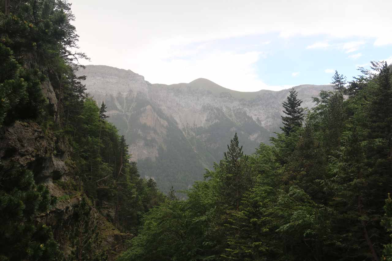 Looking back down towards the valley of Ordesa