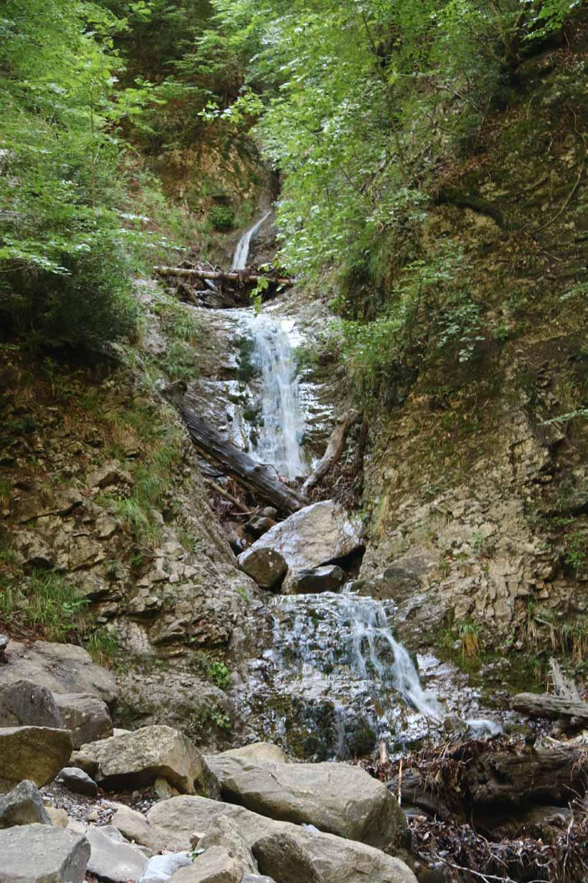 A small cascade on a side creek seen along the way to Cascada de Arripas