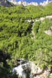Ordesa_383_06172015 - Contextual view of the Cascada de Arripas backed by the north-facing cliffs crowing the Ordesa Valley as seen from the mirador
