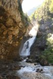 Ordesa_409_06172015 - Looking up the Río Arazas towards the lowermost drops of the Cascadas del Estrecho