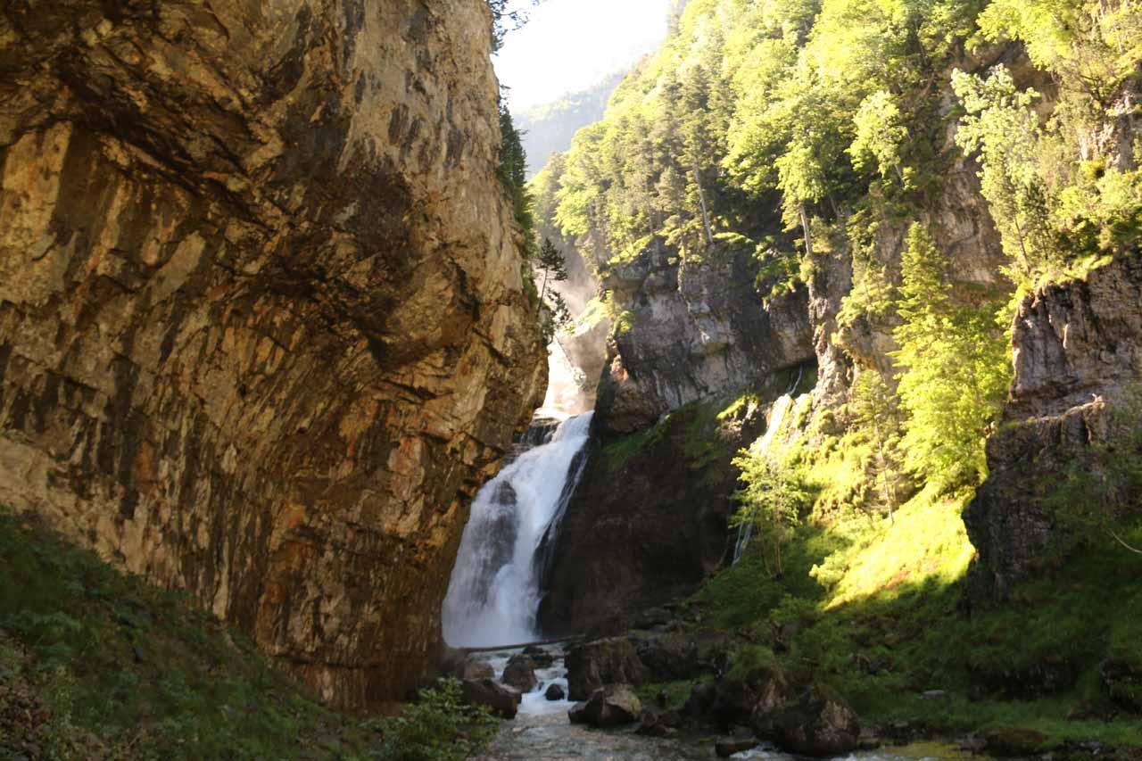 The lowermost tiers of Cascadas del Estrecho