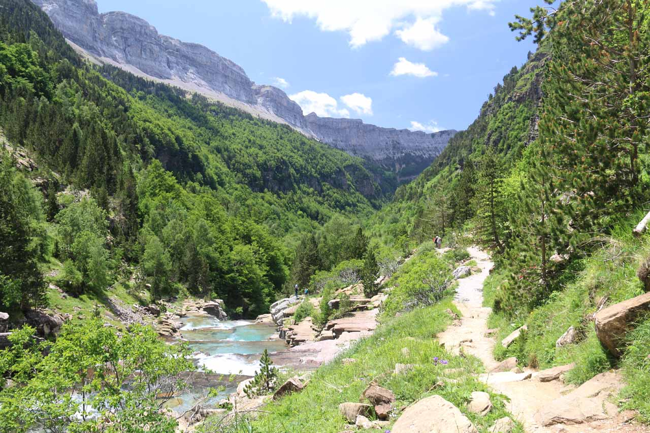 Back at the section of the trail near the Gradas del Soaso