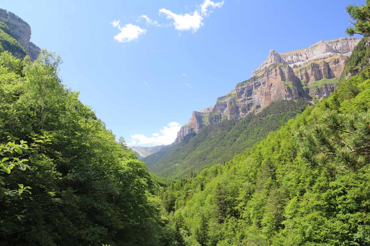 This was the view from the mirador de los Bucardos that I had observed earlier from the mirador de Cascada de Arripas