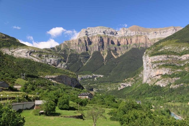 Ordesa_969_06172015 - This was the view towards the gorgeous cliffs of the Ordesa Valley seen from the charming town of Torla on a beautiful day after I was done with the Cola de Caballo hike
