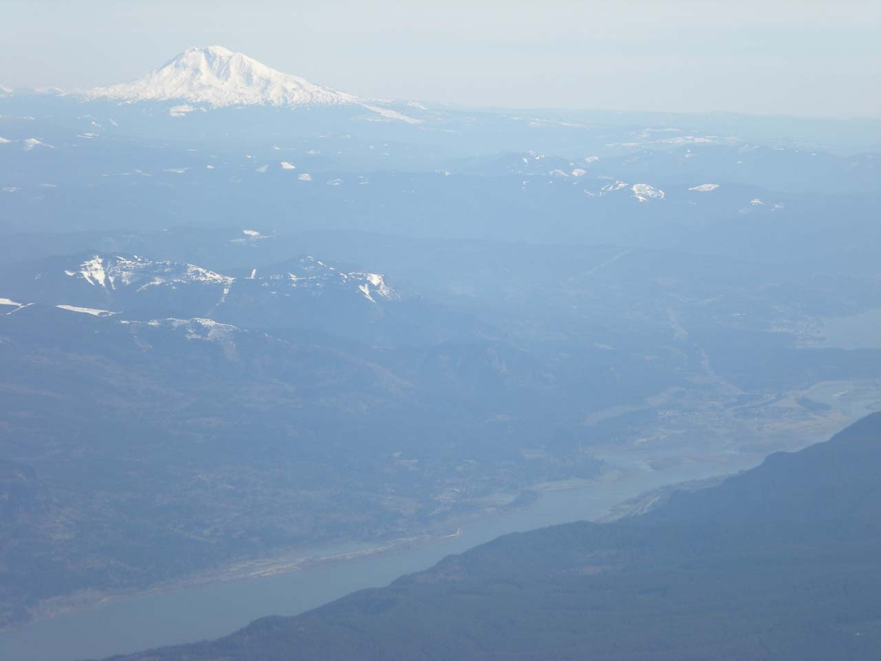 Mt Adams from the plane