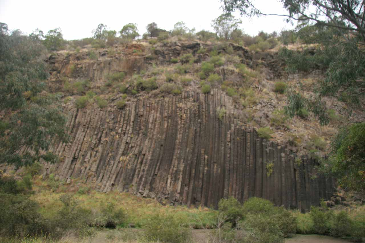As we left Melbourne and headed northwest out of the city, we made a stop at the impressive Organ Pipes, which featured the kind of faint basalt columns that could be underneath Trentham Falls