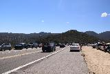 Ortega_Falls_004_03172019 - Lots of cars and traffic flanking the pullouts by Ortega Falls scramble along Ortega Highway