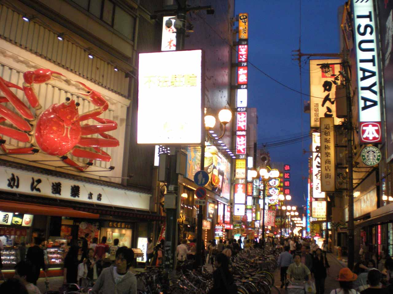 This was the happening Dotonbori District of Osaka, which was about 45 minutes east of Kobe and the Nunobiki Waterfalls