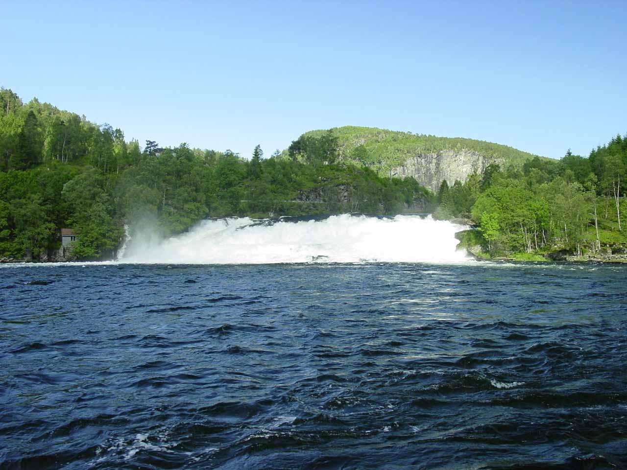 Contextual view of the Osenfoss or Osfoss waterfall