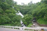 Oshinkoshin_045_06062009 - Contextual look across the road at both the Oshinkoshin Waterfall and the steps next to it