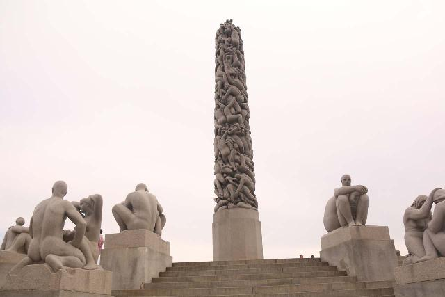 Oslo_751_06182019 - While we were in Oslo, we also managed to visit the curious sculptures at Vigeland Sculpture Park (which I think could also be known as Frogner Park), where lots of human sculptures and shapes blended together