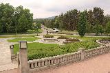 Oslo_793_06182019 - Looking behind the backside of Vigelandsparken towards another garden and some forested streets in Oslo