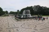 Oslo_829_06182019 - Looking across a patterned floor surrounding this fountain on the way out of Vigelandsparken in Oslo