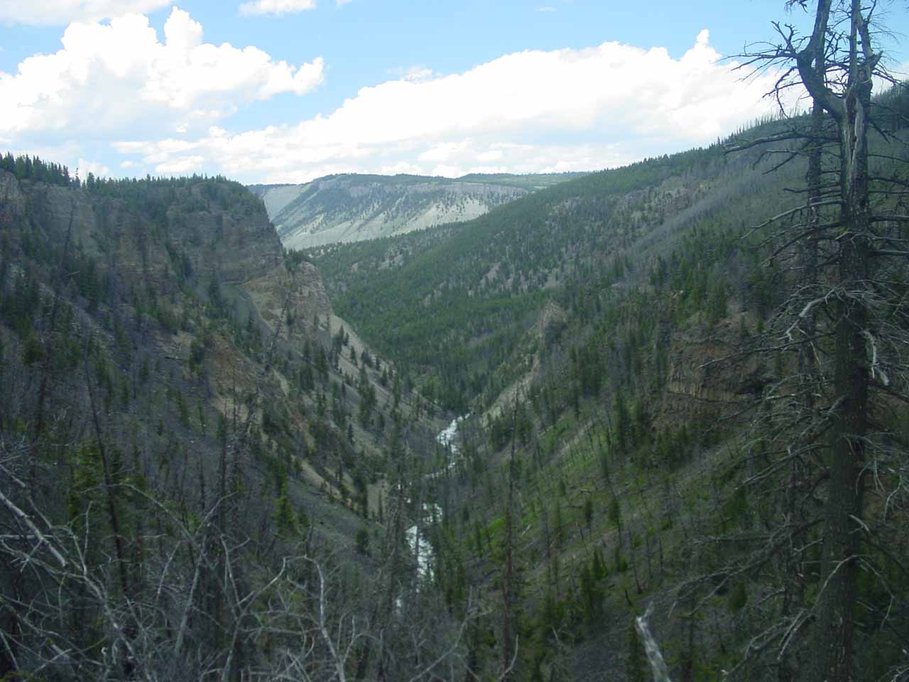 Looking into Sheepeater Canyon before the descent