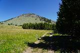 Osprey_Falls_069_08042020 - Bunsen Peak was almost always in view throughout the Bunsen Peak Road