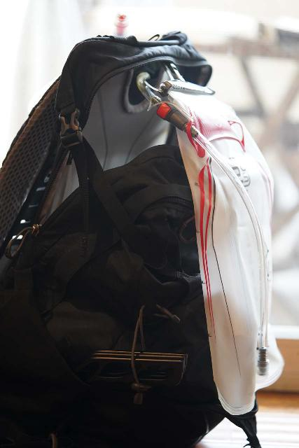 Closer look at the hydration pack that comes with the Osprey Manta 34