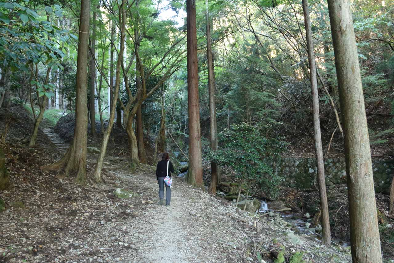 Continuing along the naturesque path to the Otonashi Falls