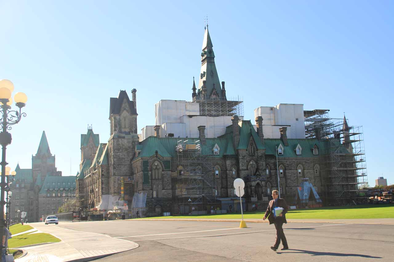 Some side building at Parliament Hill