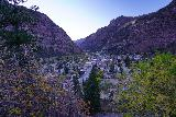 Ouray_Overlook_007_10162020 - Looking down towards the town of Ouray from the familiar Ouray Lookout but this time it was fronted with some Fall Colors