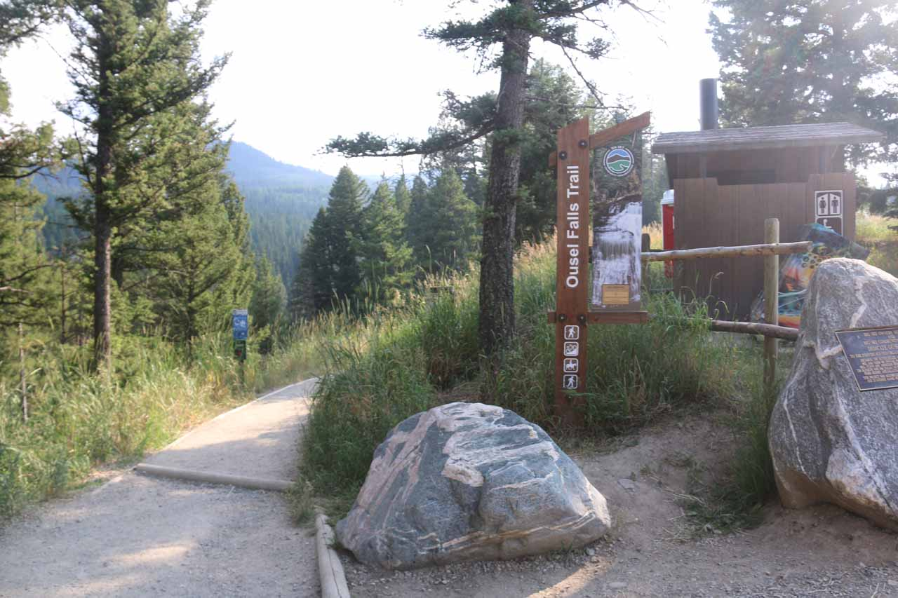 Getting started on the nearest trailhead to reach Ousel Falls