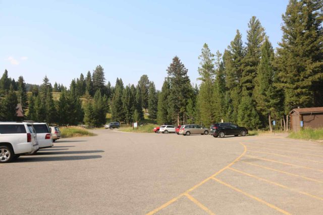 Ousel_Falls_008_08082017 - Looking back at the parking lot for the Yellow Mule Trailhead, which was where I began my hike to Ousel Falls