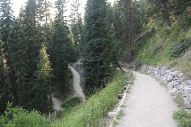 Ousel_Falls_016_08082017 - The well-developed Ousel Falls Park Trail, which was suitable for hikers, people in wheelchair, and people wishing to ride a bike