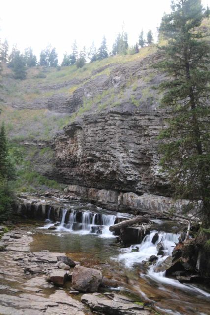 Ousel_Falls_037_08082017 - Intermediate cascades and cliffs hinting at the geology responsible for the formation of Ousel Falls