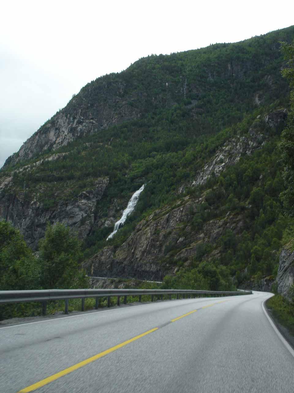 On the Utladalsvegen somewhere near Øvre Årdal as we were approaching some waterfall