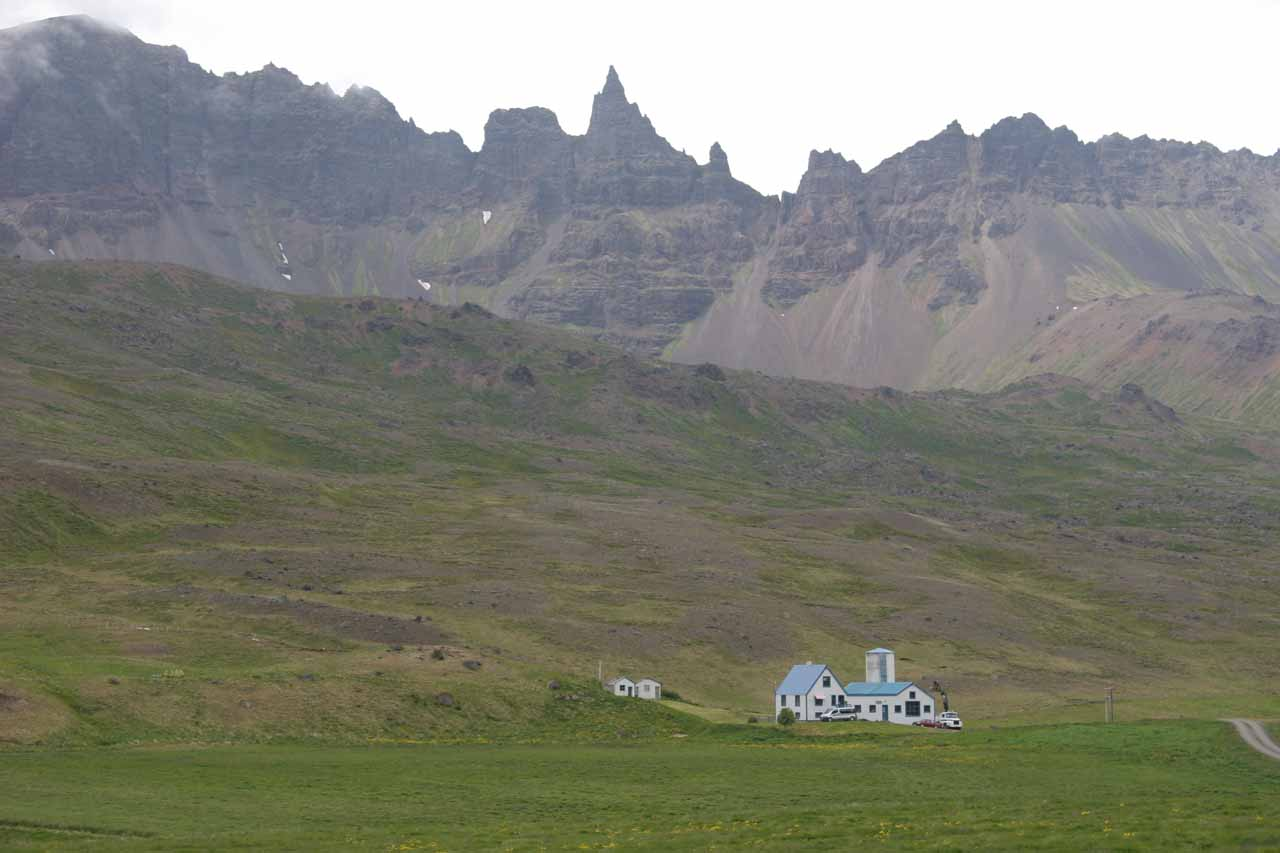 When we left Ketubjörg and eventually returned to the Ring Road, we were headed to Akureyri where we passed through Öxnadalur, which was memorable for its jagged peaks