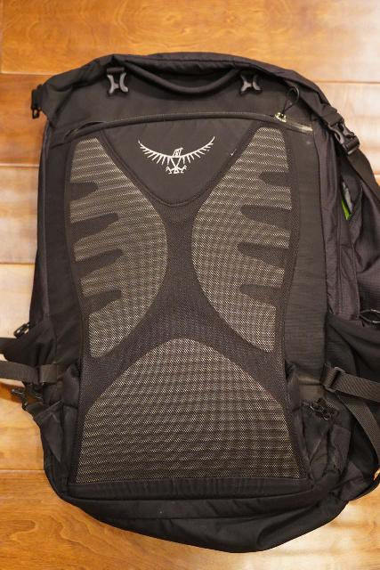 Concealing the shoulder straps and hip belt on my Osprey Ozone 46 Travel Backpack so it appears even more like a personal item (let alone a carry-on)