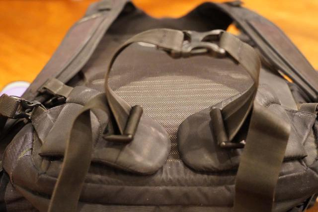 Closer look at the hip belt of the Osprey Ozone 46 Travel Backpack