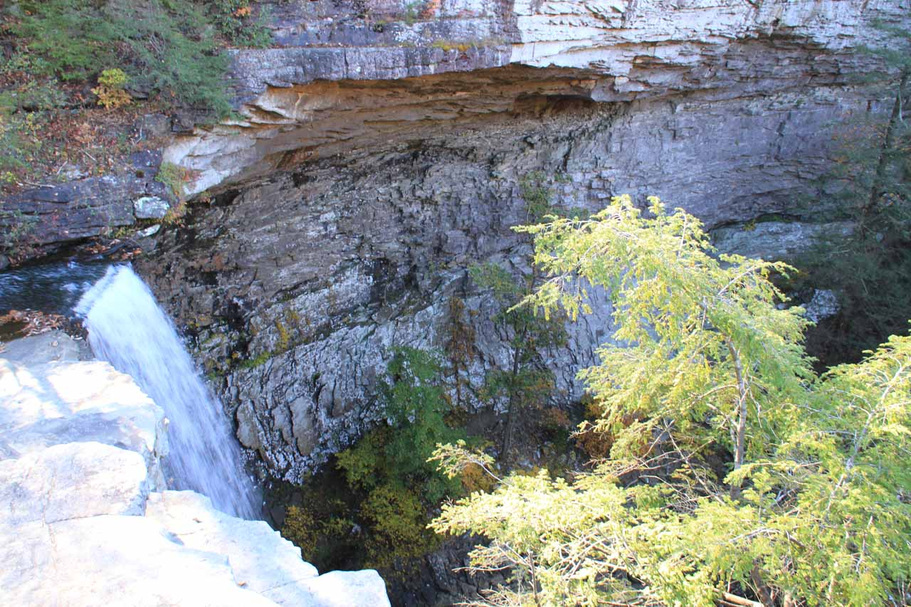 The top of Ozone Falls