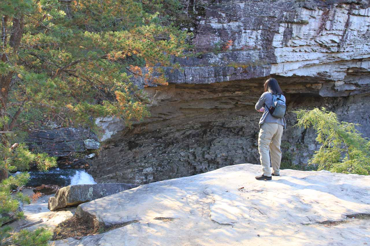 Julie at the top of Ozone Falls