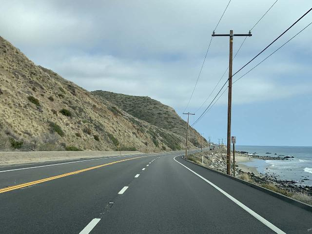 PCH_006_iPhone_02082021 - Further to the south from Santa Paula and Fillmore on the other side of the Santa Monica Mountains was the attractive Pacific Coast Highway, which makes for a pleasurable drive if you've got the time to slow things down a bit and enjoy the coastal scenery there
