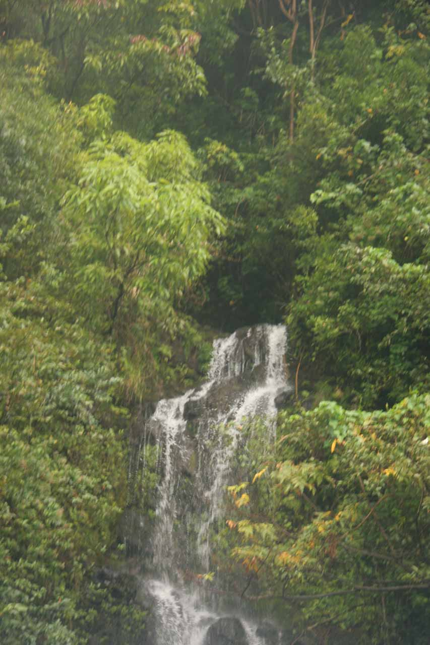 Paihi Falls from the temporary bridge