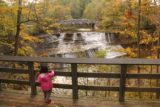 Paine_Falls_042_10042015 - Tahia enjoying the main lookout for Paine Falls though she was actually getting more of a kick out of watching leaves slowly fall from her hands